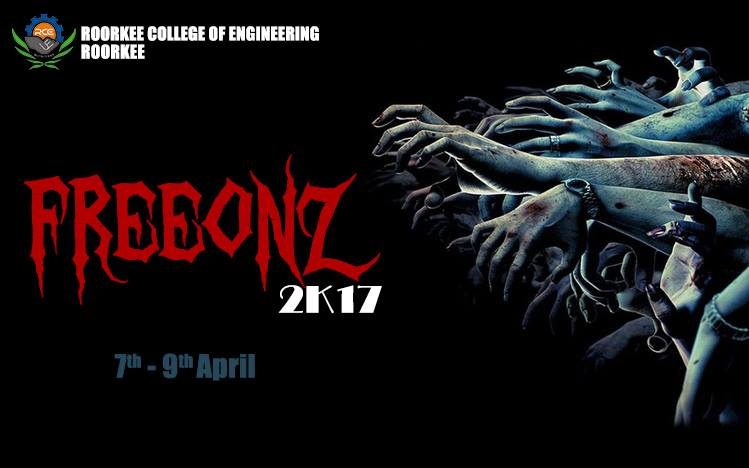 Roorkee College of Engineering's Annual Cultural Fest 'Freeonz 2K17' [April 7-9, Uttarakhand]: Register by April 4