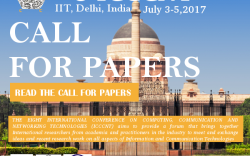 Call for Papers: Conference on Computing, Communcation and Networking [IIT Delhi, July 3-5]: Submit by April 15