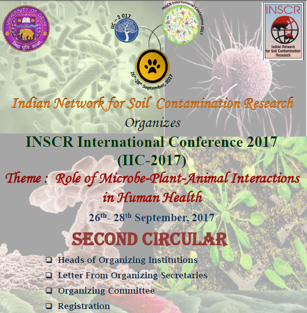 INSCR's Conference Role of Microbe-Plant-Animal Interactions in Human Health [Sep 26-28, Delhi]: Register by July 15