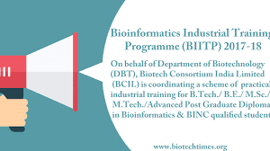 DBT Bioinformatics Industrial Training Programme for Engineers [Multiple Cities]: Apply by Oct 5