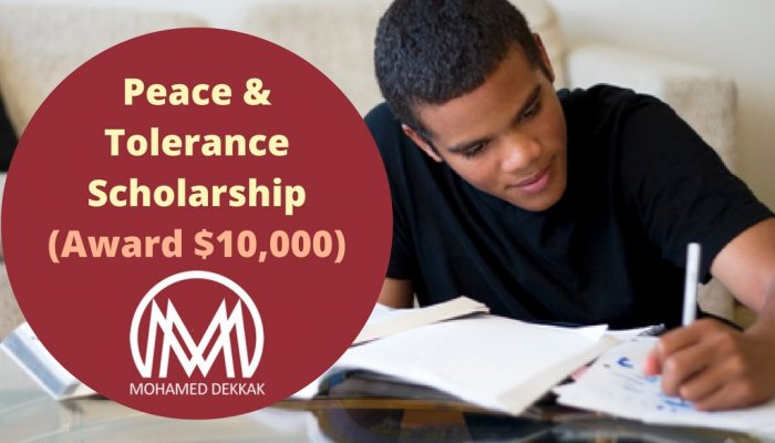 Peace & Tolerance Scholarship; Grant of Rs. 6.4 Lakhs: Submit by Dec 31