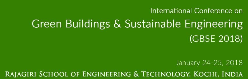 Conference Green Buildings Sustainable Engineering