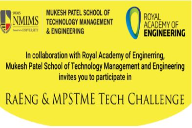 Tech Challenge by Mukesh Patel School, NMIMS and Royal Academy of Engg, UK [Jan 15, 2018]: Prizes Worth Rs. 1.8L, Register by Oct 25
