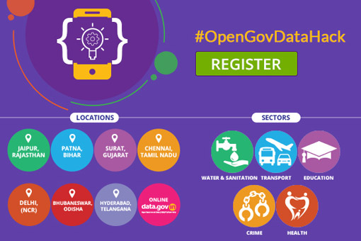 Open Gov Data Hackathon; Prizes Worth Rs. 5 Lakhs: Submit by Nov 13