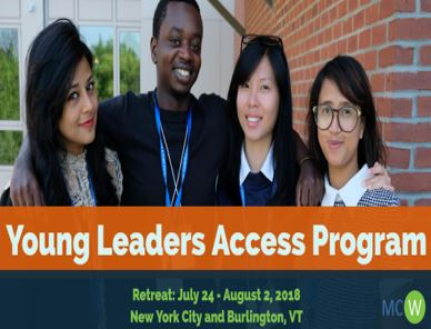 Young Leaders Access (YLA) Program, USA [July 24- August 2, 2018]: Program and Flight Costs Covered; Apply by Jan 2