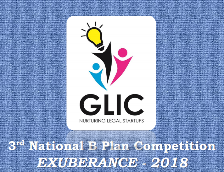 GNLU's 3rd National B Plan Competition Exuberance 2018