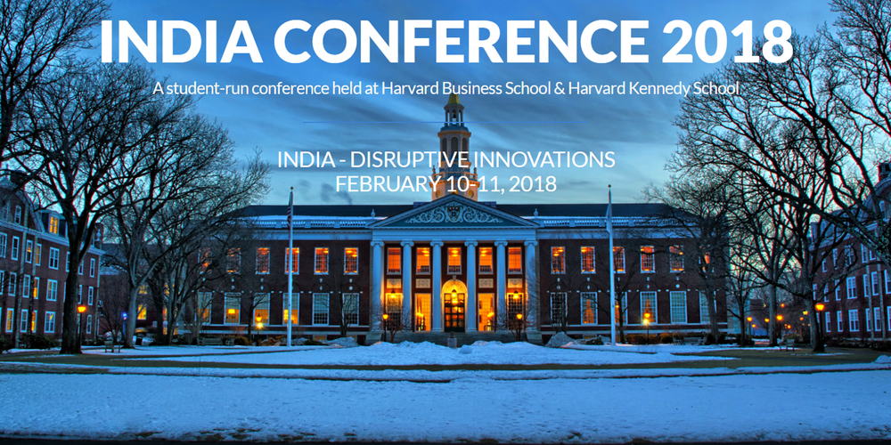 Harvard Business School Harvard Kennedy School India Conference 2018