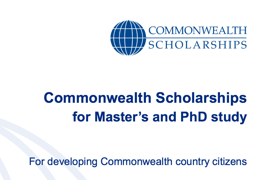 Commonwealth Scholarship in United Kingdom 2018: Apply by Feb 22: Expired