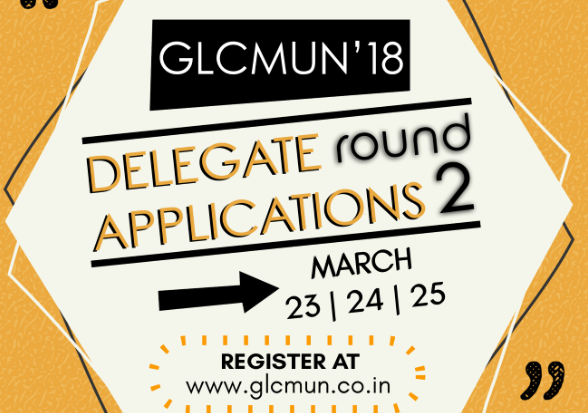 GLC MUN 2018 round2 delegate applications