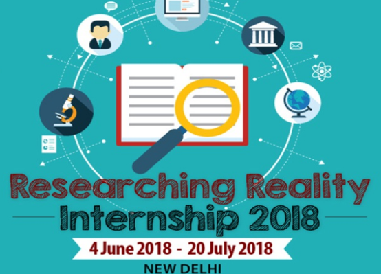 internship 2018 CCS Delhi researching reality