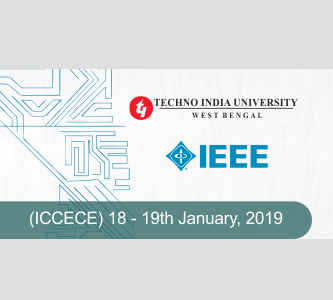 CfP: Conference on Computer, Electrical & Communication Engg. @ Techno India University, Kolkata [Jan 18-19]: Submit by Sept 25