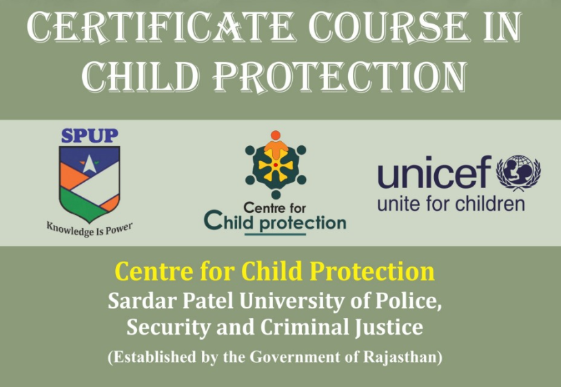 Certificate Child protection sardar patel police university