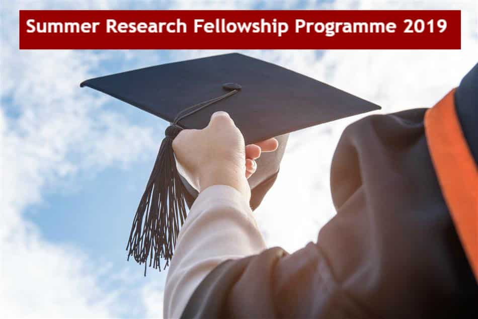 Science Academies' Summer Research Fellowship Program 2019