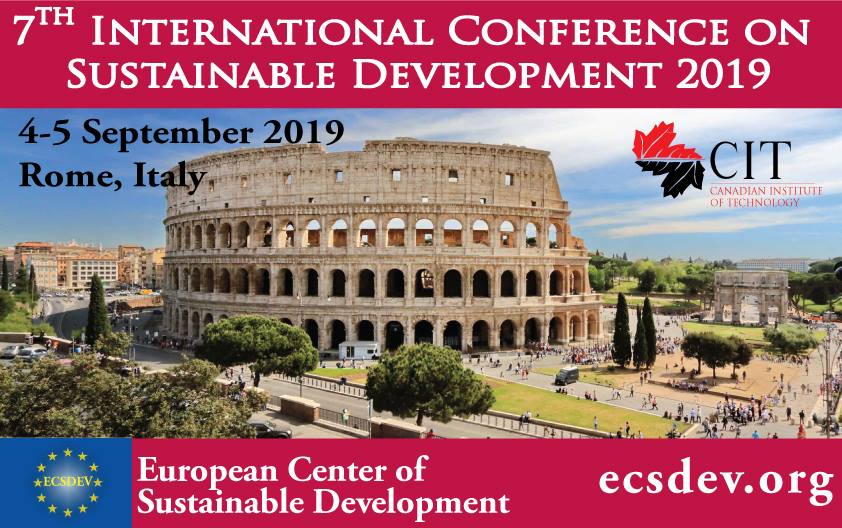 Call for Papers: 7th International Conference on Sustainable Development [Sept 4-5 2019, Rome]: Submit by June 10: Expired