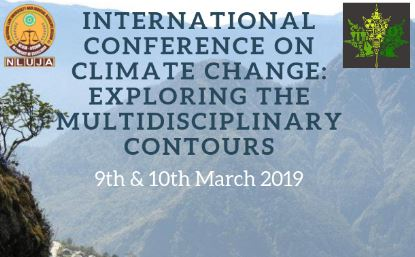 CfP: International Conference on Climate Change @ National Law University and Judicial Academy, Assam [March 9-10]: Submit by Nov 15
