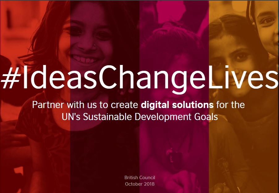 Ideas Change Lives International Challenge 2018 @ British Council [Prizes worth Rs. 38 Lakh]: Submit by Nov 23