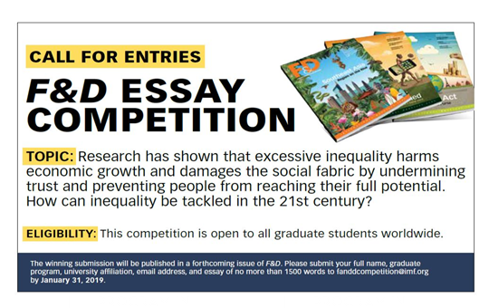IMF F&D Graduate Student Essay Contest [Get Published in Upcoming F&D Issue]: Submit by Jan 31: Expired