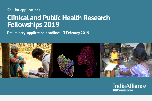 Clinical & Public Health Research Fellowships 2019 by India Alliance: Apply by Feb 13: Expired
