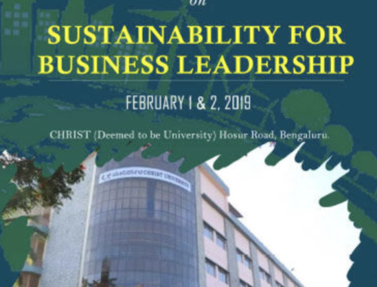 MDP Christ Bangalore on Sustainability for Business Leadership