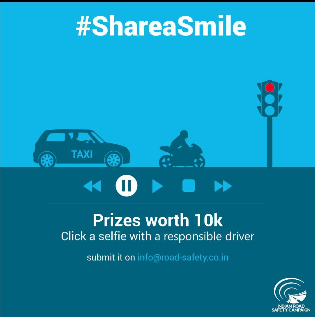 #ShareaSmile by Indian Road Safety Campaign in Collaboration with WHO [Cash Prizes worth 10K]: Registrations Open
