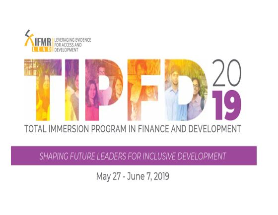 Total Immersion programme in finance and development 2019 Chennai