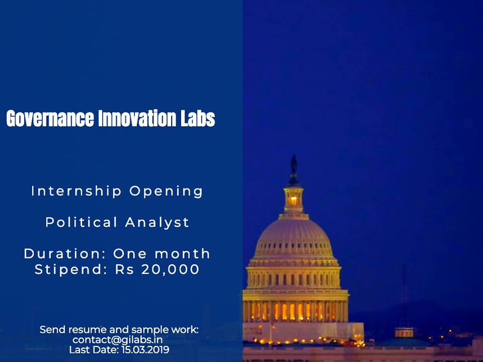 GI Labs Political Analyst internship