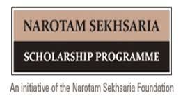 Narotam Sekhsaria Post Graduate Scholarship in Sciences and Applied Sciences