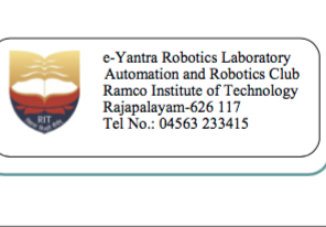 Programme on Robot Making Ramco Institute Tamil Nadu
