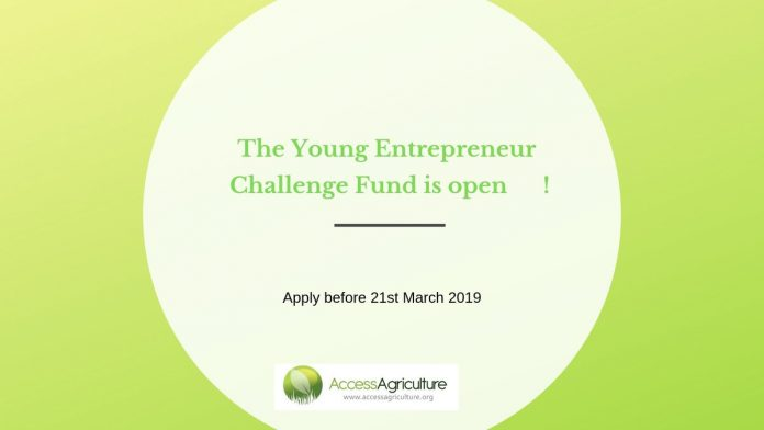 Access Agriculture Young Entrepreneur Challenge Fund 2019: Submit by Mar 21