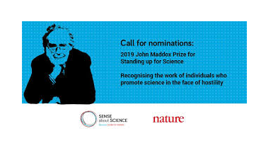 John Maddox Prize 2019 for Standing Up for Science [Prize worth Rs. 2 Lakhs]: Apply by Jul 19