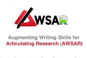 Workshop on Augmenting Writing Skills for Articulating Research (AWSAR) @ IIT Delhi [July 1]: Registrations Open