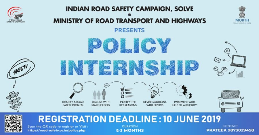 policy internship indian road safety campaign