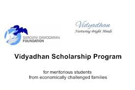 Vidyadhan Scholarship Program from Sarojini Damodaran Foundation supports the college education of meritorious students from economically challenged families.