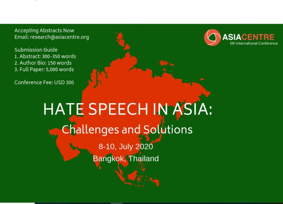 Conference Hate speech in Asia Bangkok