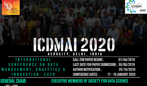 CfP: International Conference on Data Management, Analytics & Innovation @ United Services Institute, Delhi [Jan 17-19, 2020]: Submit by Aug 30