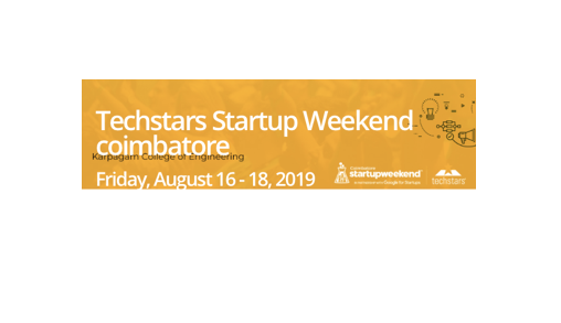 Techstars Startup Weekend Coimbatore - Pitch, Build, Launch