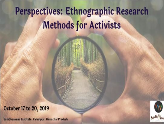 workshop ethnographic research methods sambhaavana