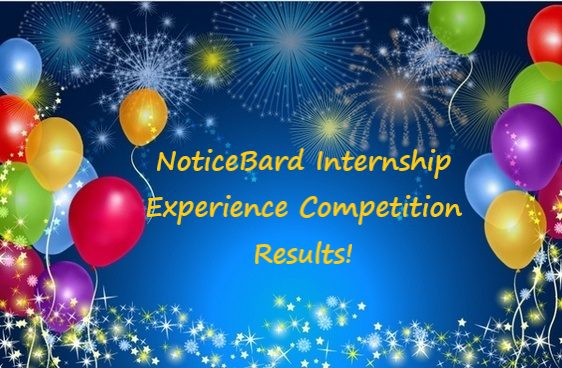 Results of the NoticeBard Internship Experience Writing Competition 2019!