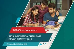 India Innovation Challenge Design Contest 2019 Dept Science Technology