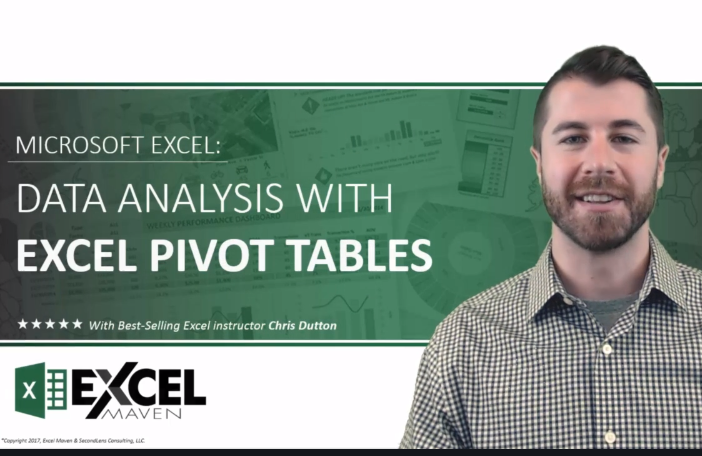 data analysis with Excel pivot tables course