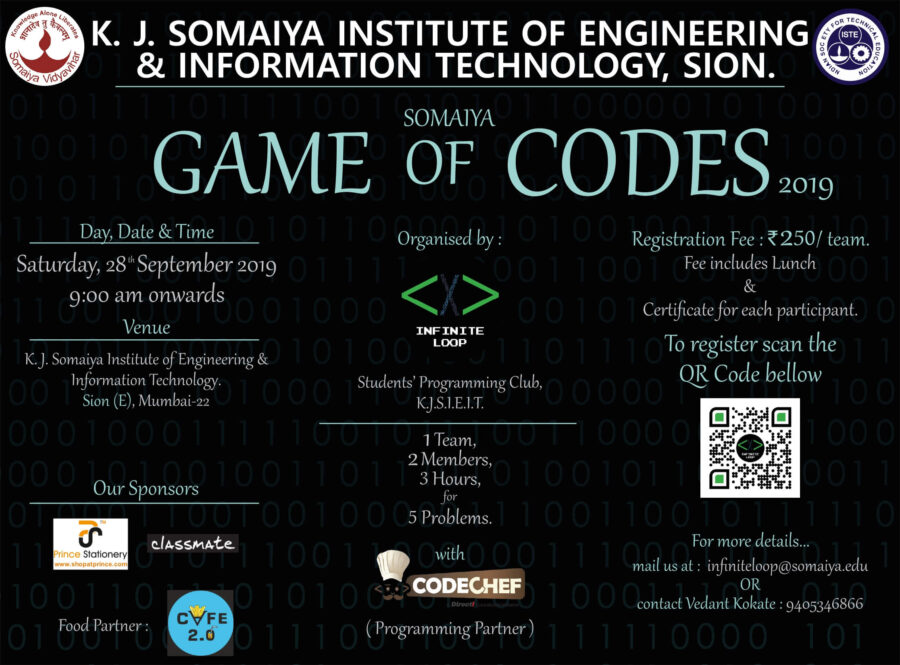 game of codes somaiya college mumbai