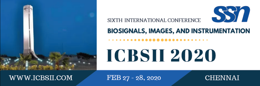 CfP: IEEE Conference on Biosignals, Images, and Instrumentation at SSN College of Engineering, Chennai [Feb 27-28]: Submit by Dec 5: Expired