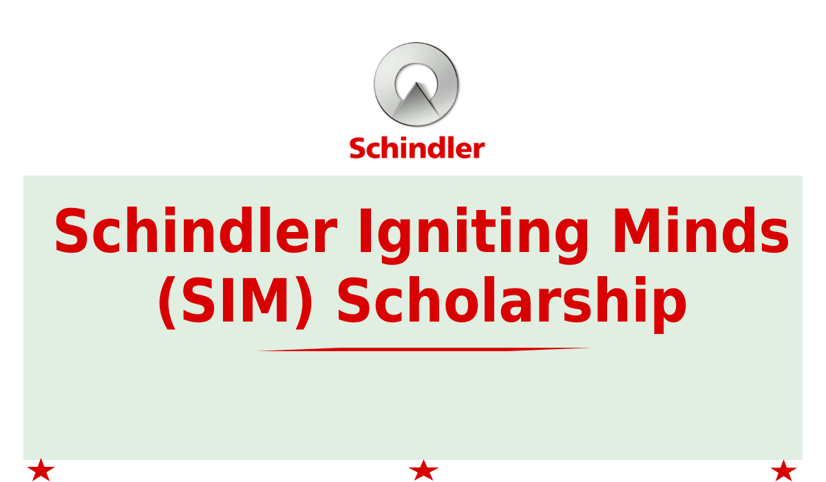 Schindler Igniting Minds (SIM) Scholarship 2020-2021 for ITI, Diploma, BE & BTech Courses [Grants Upto 75k]: Apply by Feb 10