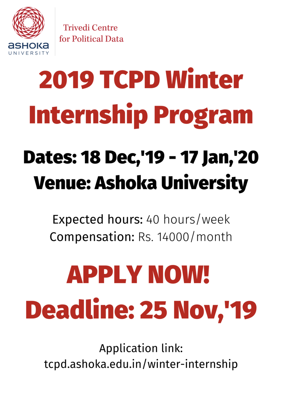 ashoka TCPD winter internship 2019