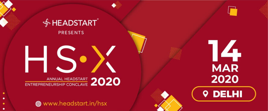 HSX 2020, Headstart's National Annual Startup Conclave [March 14, Delhi]: Registrations Open