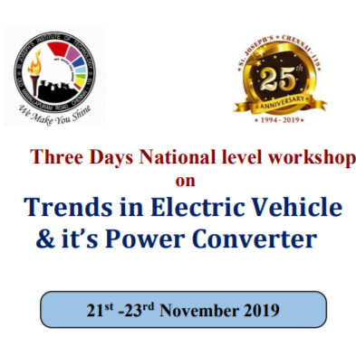 Workshop on trends in electric vehicle Chennai