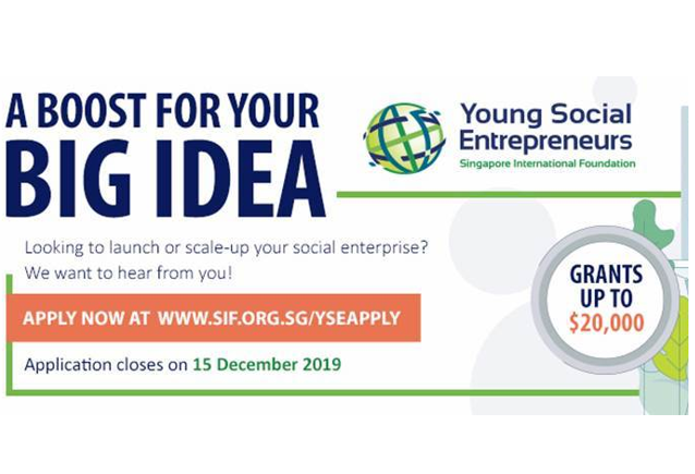 Young Social Entrepreneurs (YSE) Programme 2020 at Singapore International Foundation [Grant Worth Rs. 10L]: Apply by Dec 15