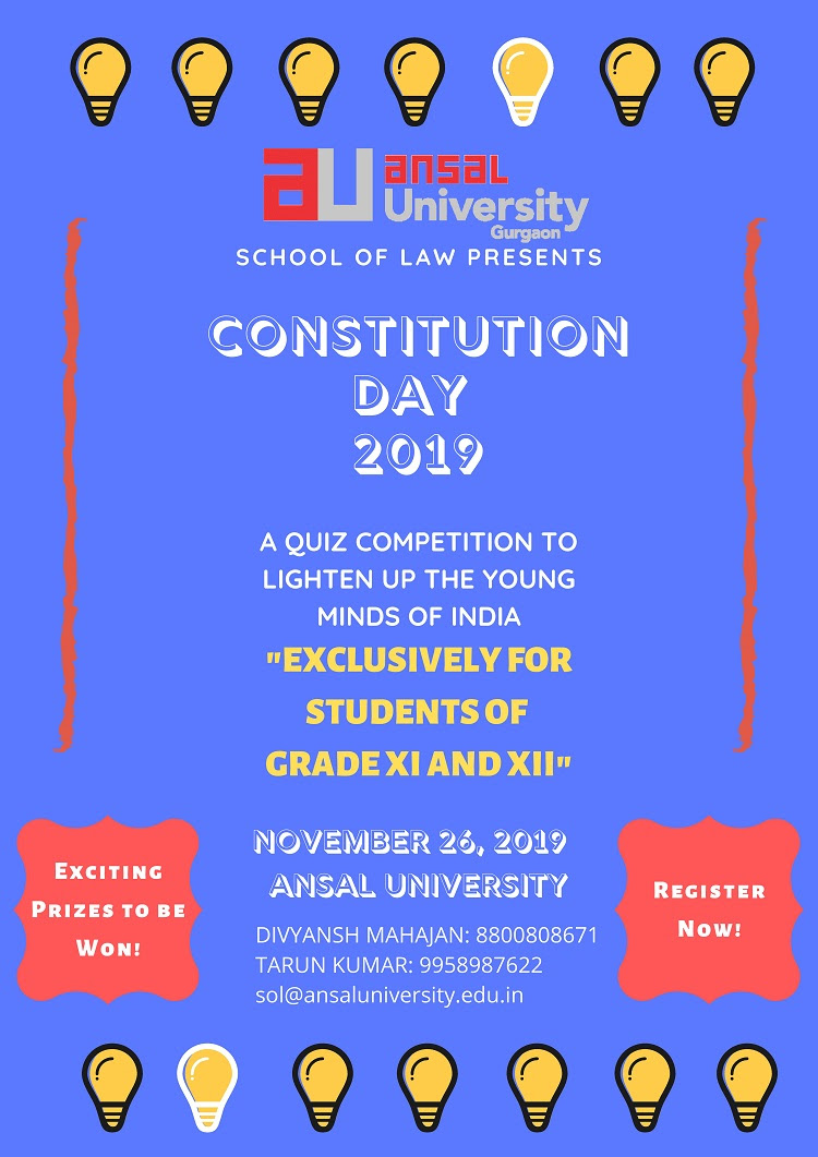 Quiz Competition 2019 at Ansal University