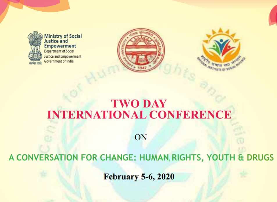 Conference human rights youth drugs Panjab University