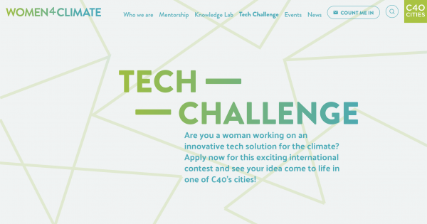 C40 Women4Climate Tech Challenge 2020 [Funding worth Rs. 28 Lakhs]: Apply by Jan 31